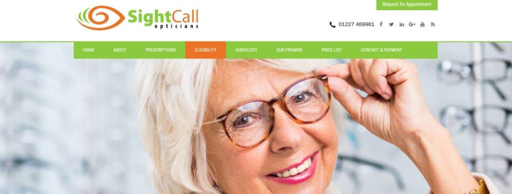 sightcall opticians web design training