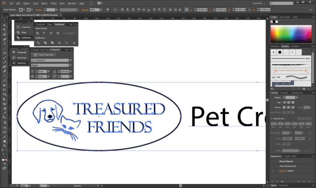 treasured friends logo design