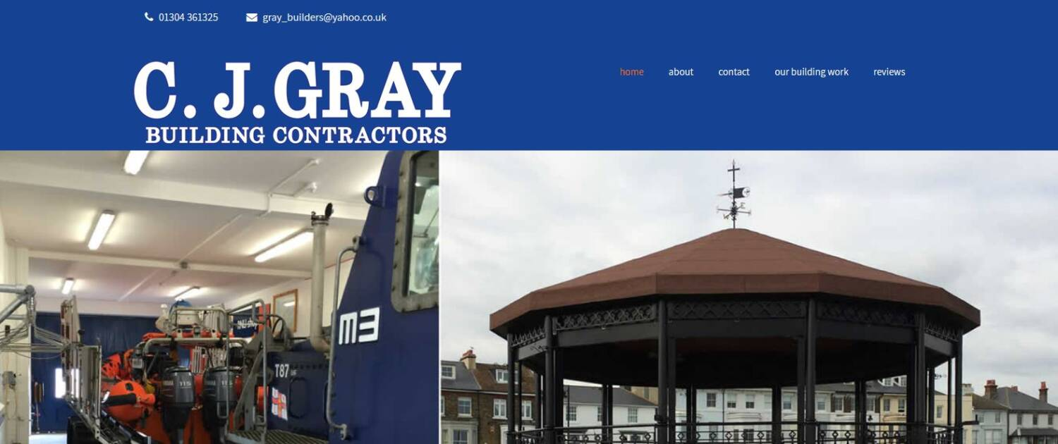 cj gray builders in deal new website design