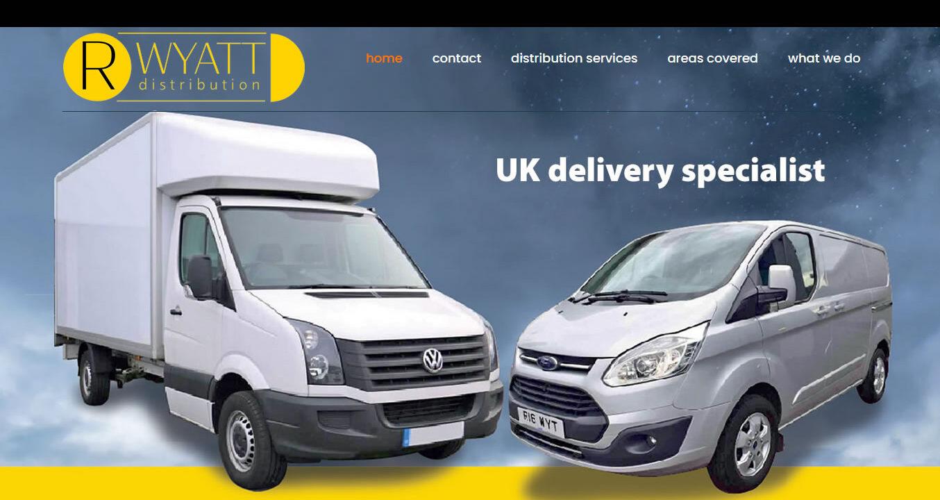 Rwyatt Distribution in Deal website design