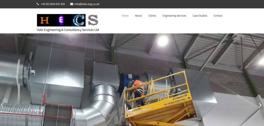 hale engineering services web design in kent