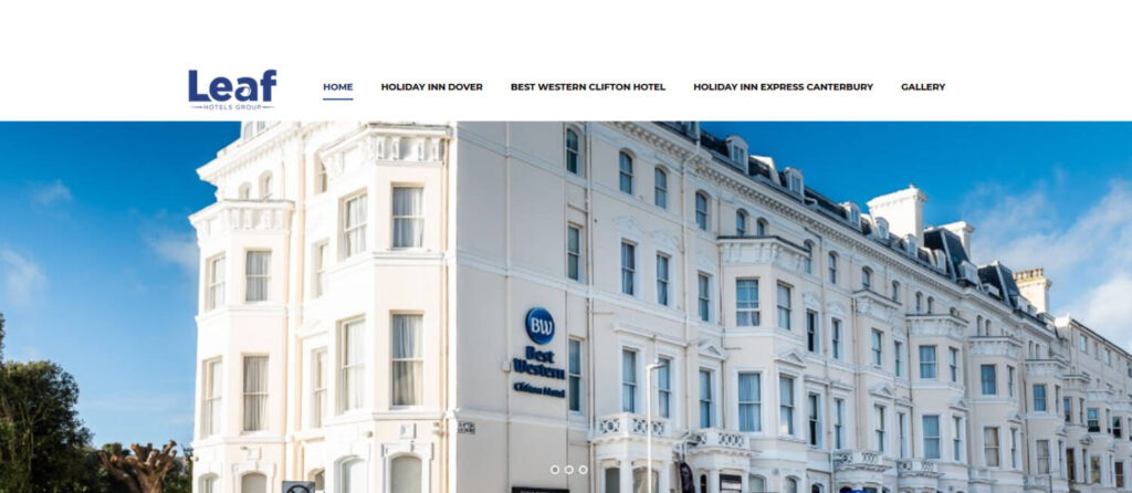 leaf hotels in kent web design