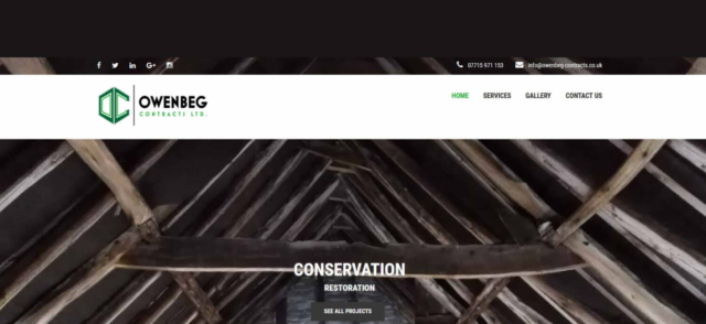owenbeg construction in dover web design