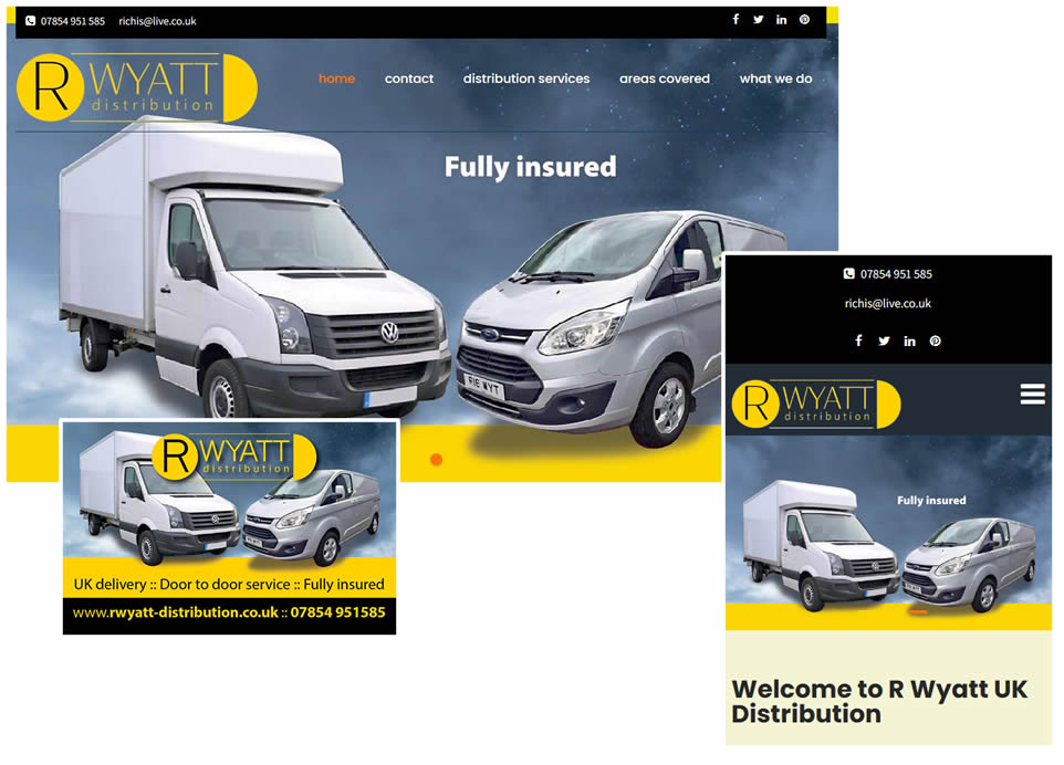 corporate website and print designs in kent