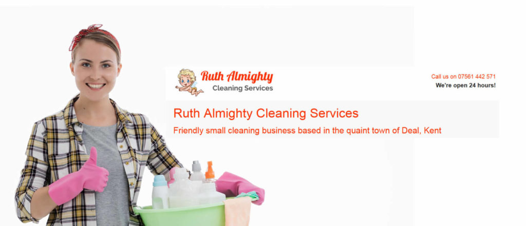 ruth almighty cleaners web design