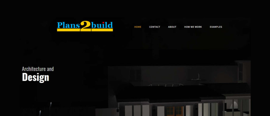 plans2build wordpress web re-design in kent