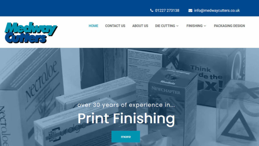 re-skin example wordpress web design in kent