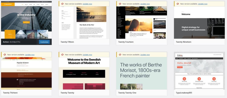 re-skin example wordpress web design in kent themes