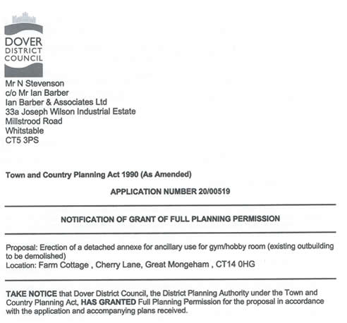 planning permission for oast house media