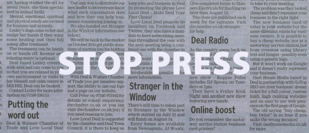 local newpaper web design editorial