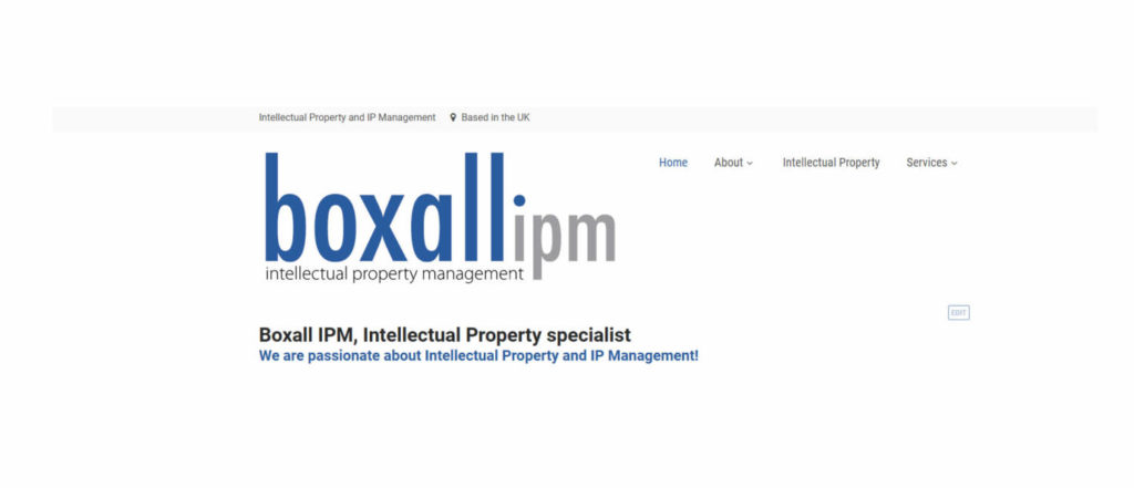 boxall IPM in Sandwich new website design
