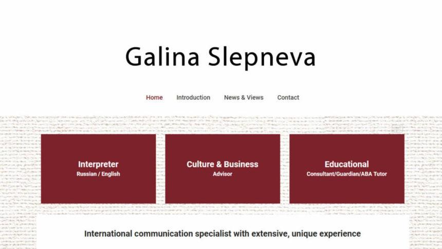 Galina Slepneva new website design